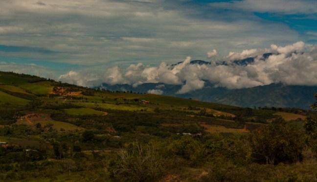La campiña Camino a Barichara, Santander, Colombia
