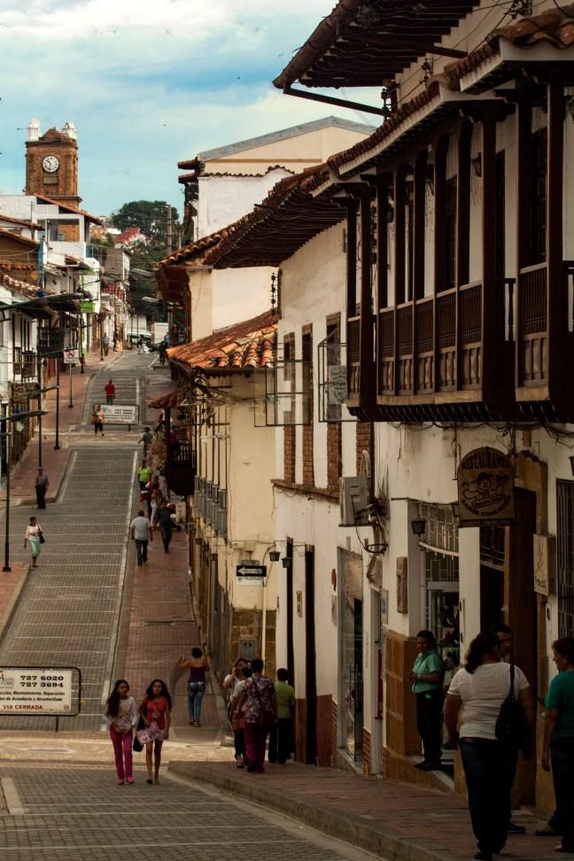 En la calle Socorro, Santander. Colombia