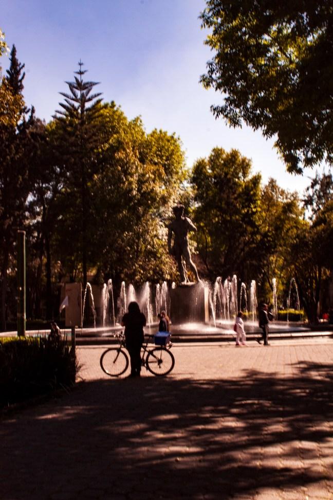 La fuente del David ciudad de México, CDMX, México