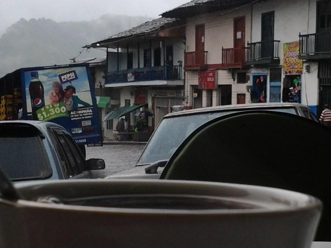 Una taza de café Parque Central, Neira, Caldas, Colombia