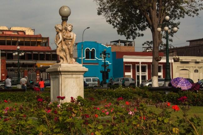 El parque Barranco, Lima, Perú