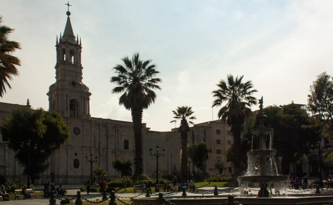Catedral ciudad de Arequipa, Arequipa. Perú