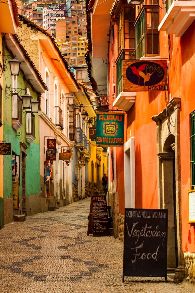 La calle Jaén Centro histórico, La Paz, Bolivia