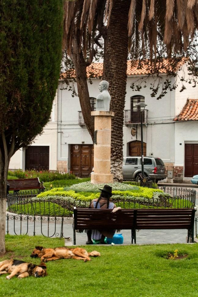 Plaza del Teatro Metropolitano ciudad de Sucre, Chuquisaca, Bolivia