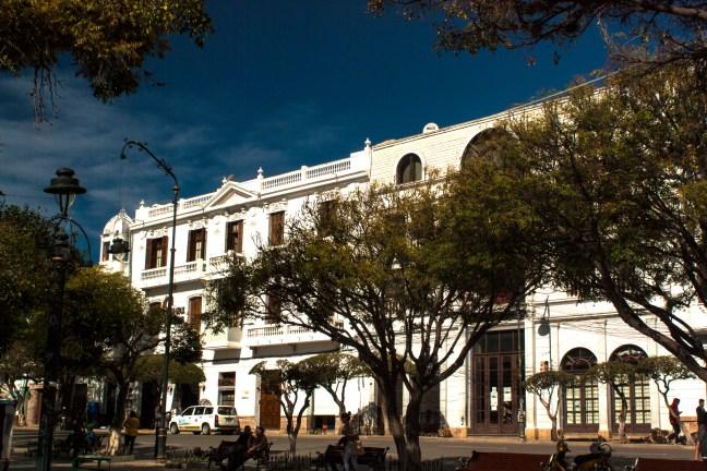 La Plaza de Armas ciudad de Sucre, Chuquisaca, Bolivia