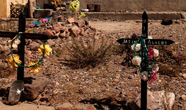 Las tumbas Uquía, Jujuy, Argentina