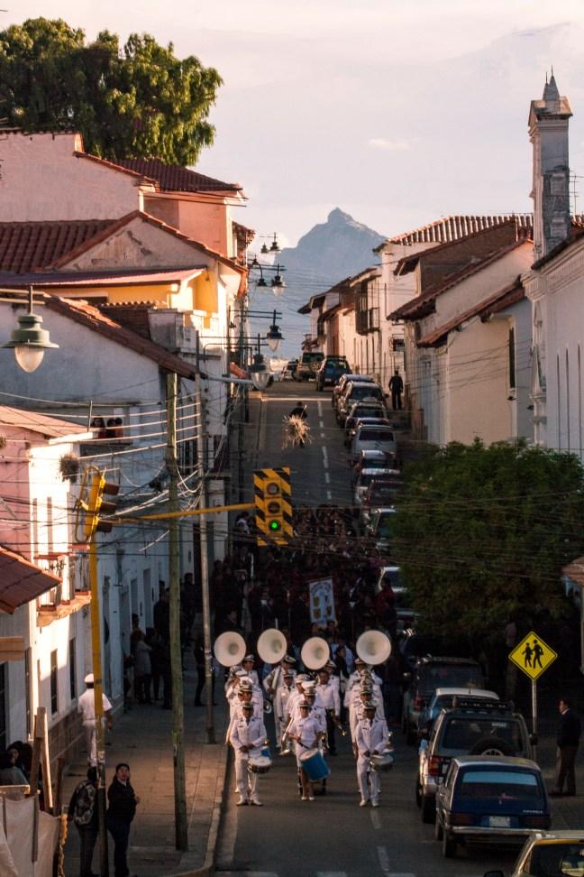 La procesión Sucre, Chuquisaca, Bolivia