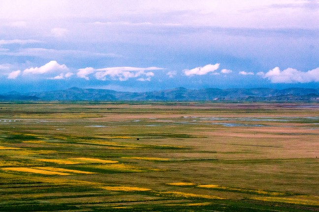 Los campos de cultivo Carretera a Juliaca, Puno, Perú