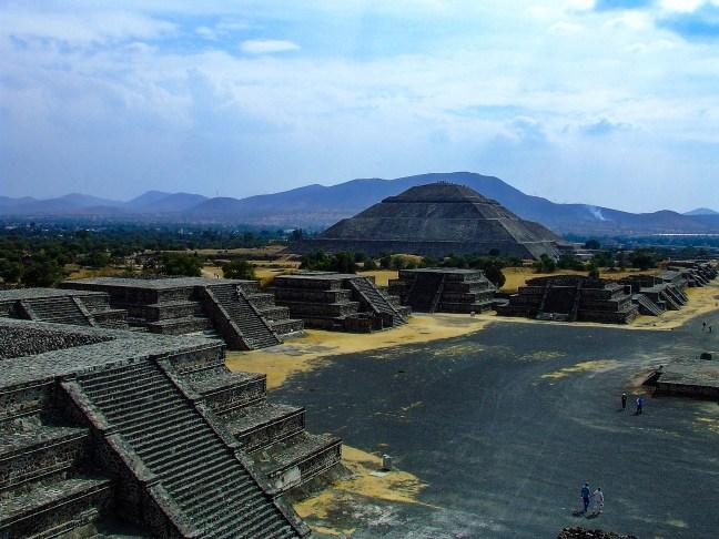 Calzada de los muertos Ruinas de Teotihuacán, México