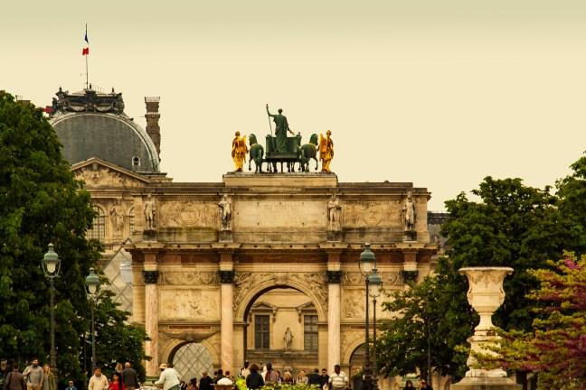 Vistas de la ciudad París, Francia