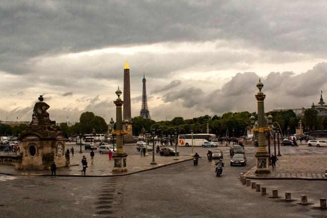 Vista desde Plaza de la Concordia Francia, París