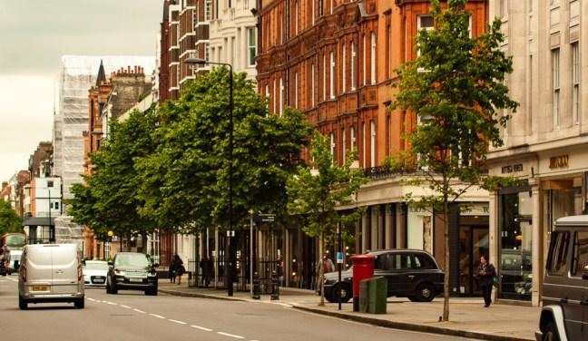 Las calles de la ciudad ciudad de Londres, UK