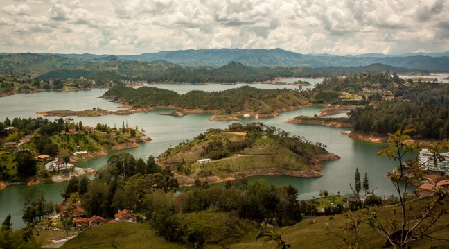 The lake Guatapé, Antioquia, Colombia
