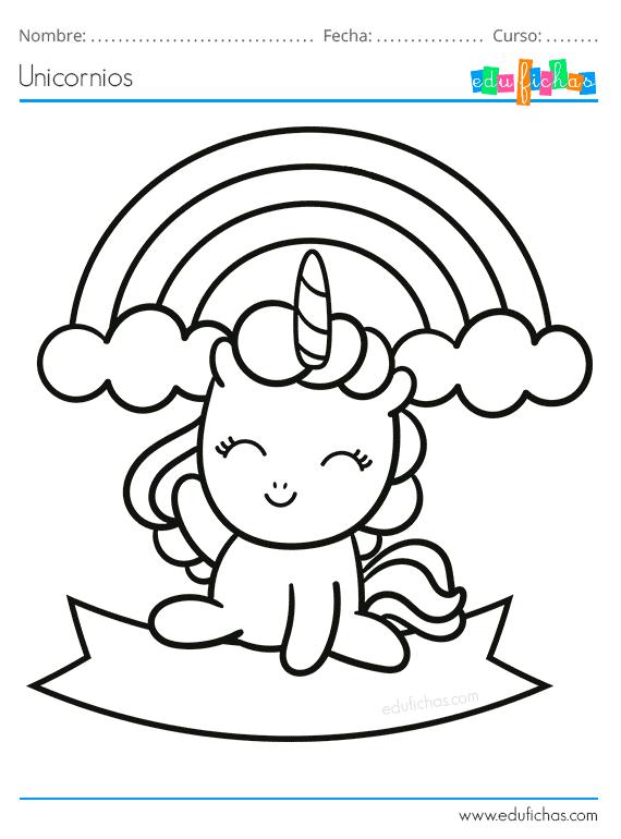 Dibujos para Colorear de Unicornios. Descargar libro para