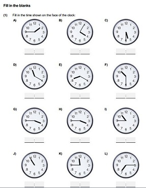 Time reading from clock 24 hour format and AM/PM Time