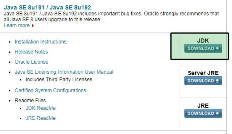 java download required version