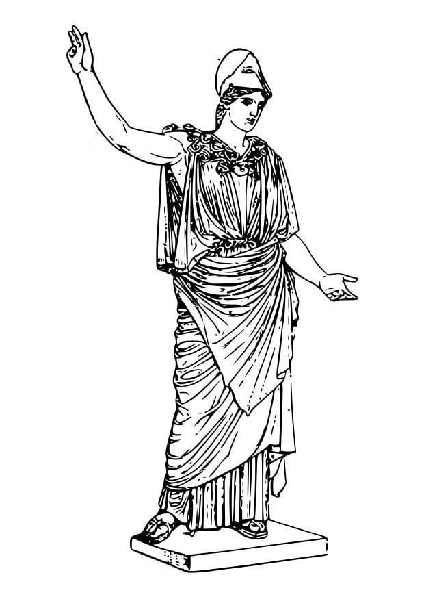Coloring Page Athena Img 18601