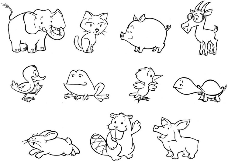 Coloring Page Baby Animals Free Printable Coloring Pages