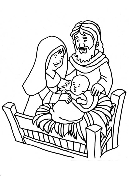 Coloring page Birth of Jesus  img 18661 Images