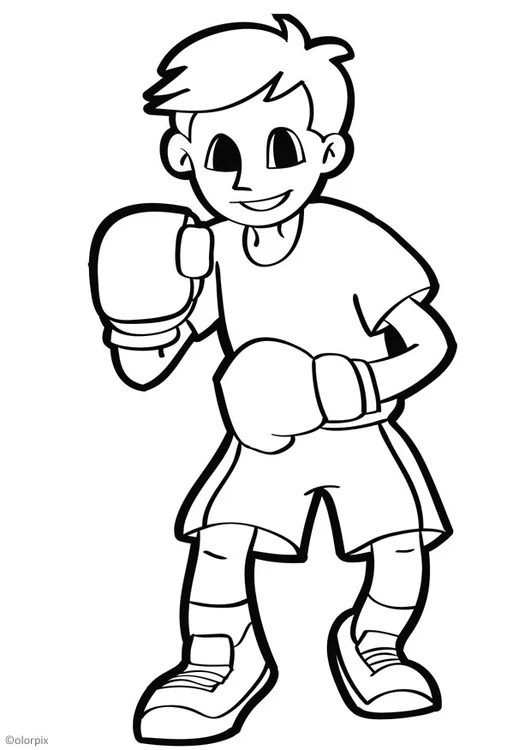 coloring page boxing  free printable coloring pages