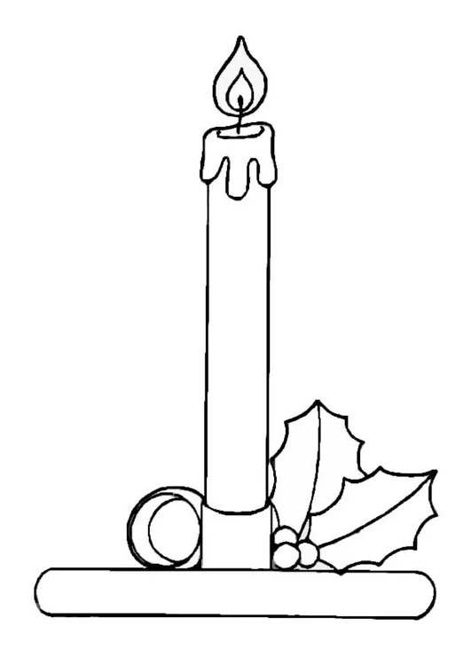 Coloring Page Candle Free Printable Coloring Pages