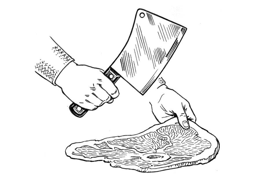 Butcher Knife Coloring Page