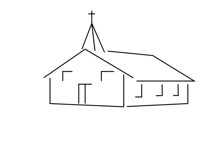Coloring Page Church Free Printable Coloring Pages