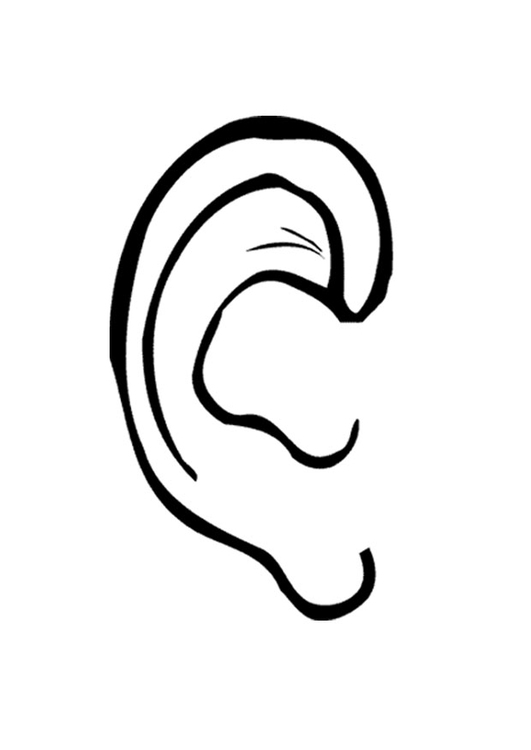 ear coloring page # 5