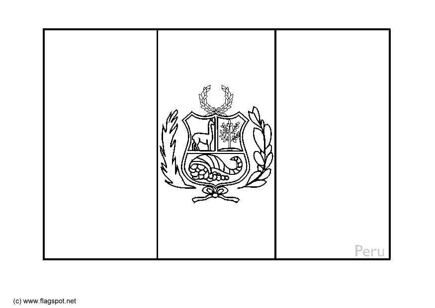 Coloring Page Flag Peru Img 6360
