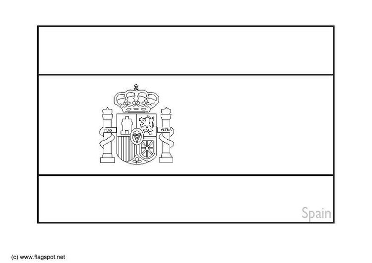 coloring page flag spain 2  free printable coloring pages