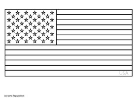Coloring Page flag USA   free printable coloring pages ...