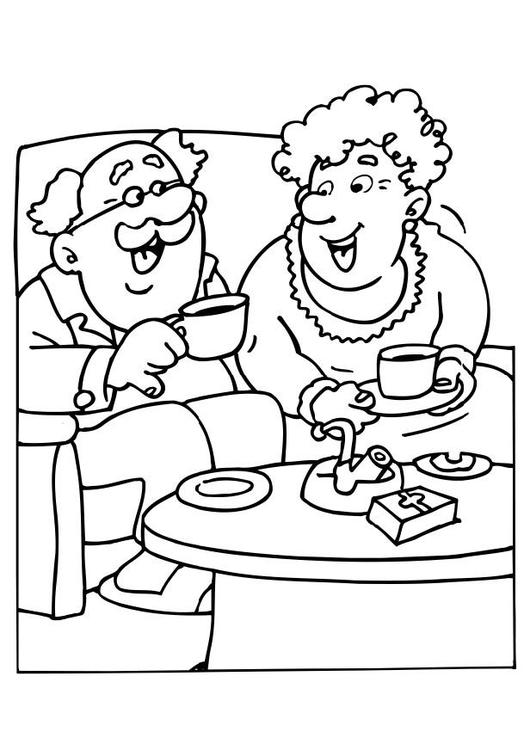 Grandpa Coloring Pages