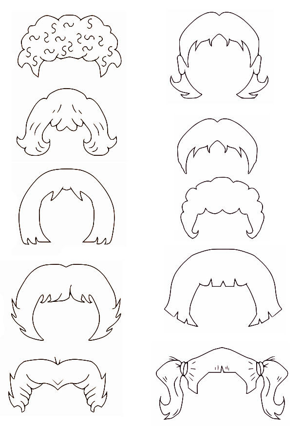 coloring page hair  free printable coloring pages