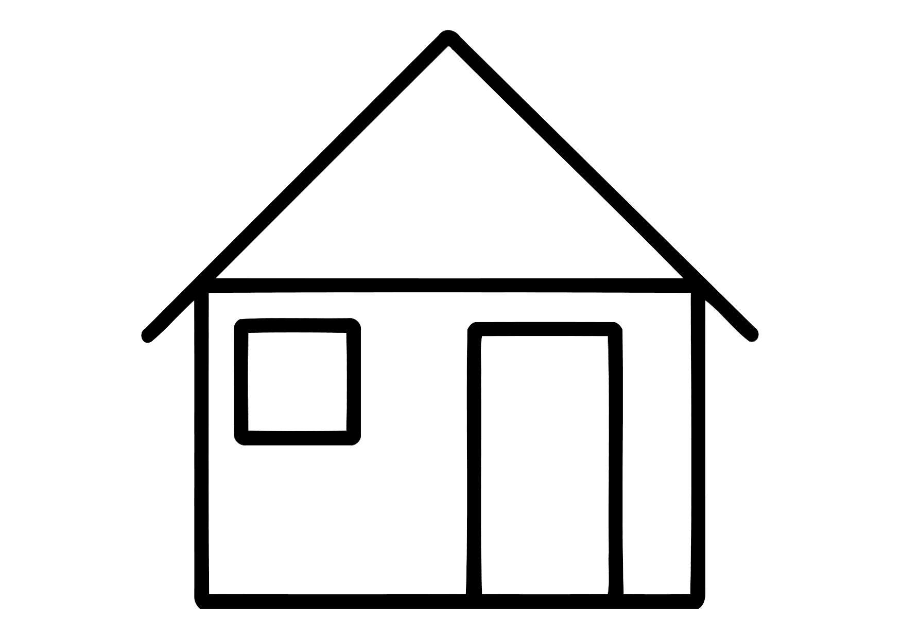 Coloring Page House Img 11324