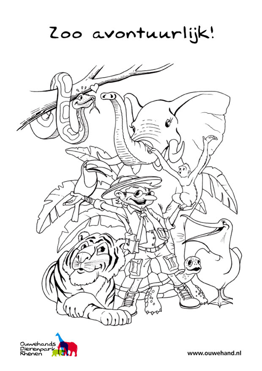 Coloring Page In The Zoo Free Printable Coloring Pages