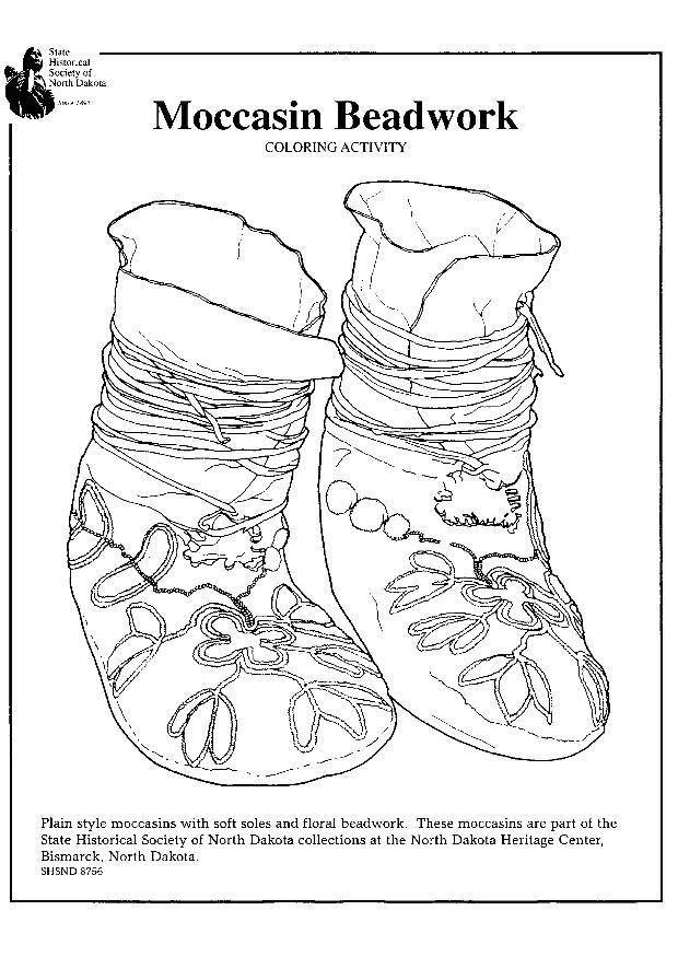 Coloring Page Moccasin Beadwork Img 7963