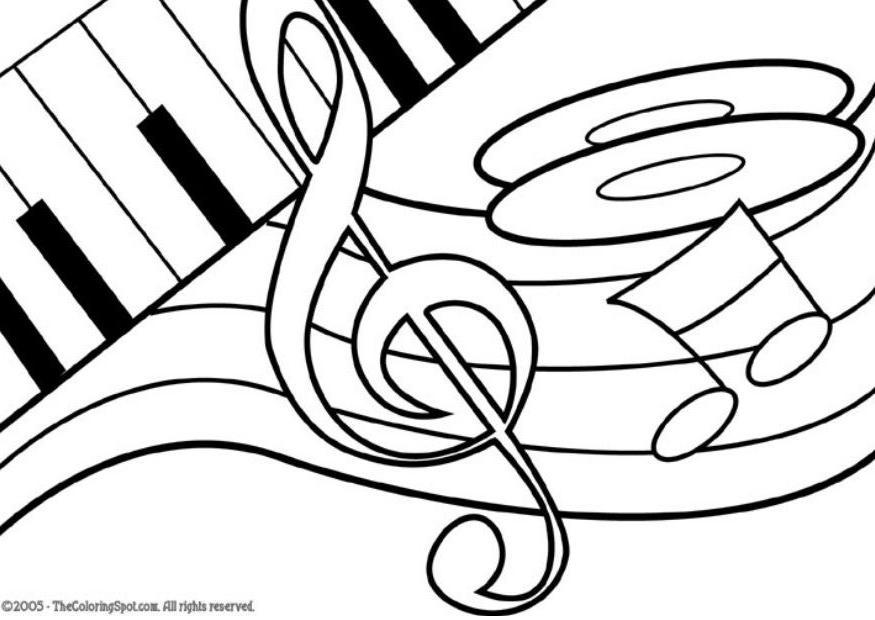 MUSIC NOTE COLORING PAGES « Free Coloring Pages