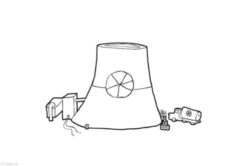 Radioactive Coloring Page Pictures to Pin on Pinterest