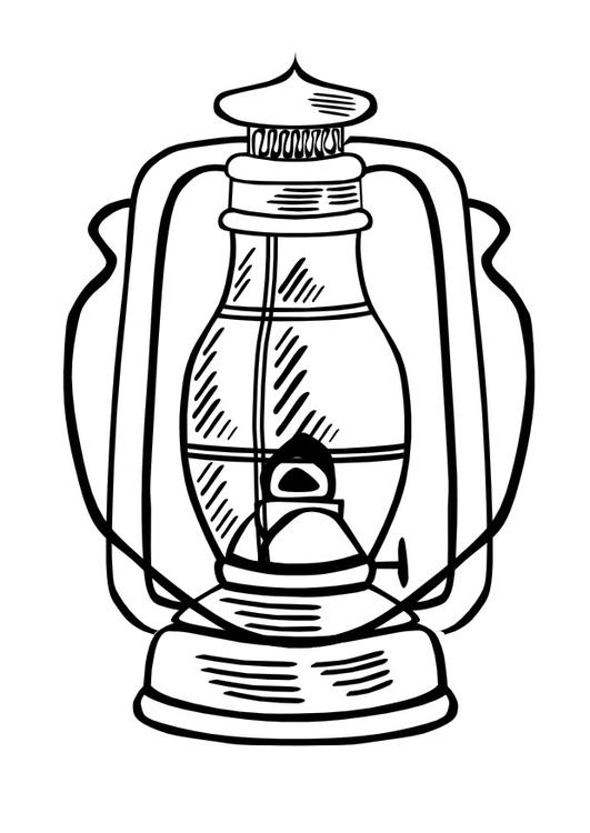 Drawing Of A Lamp