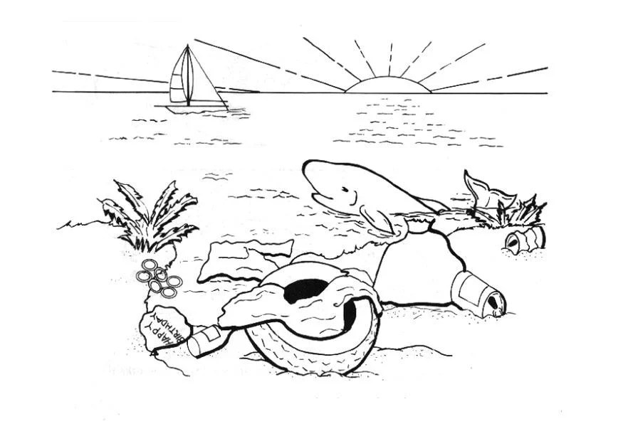Coloring Page Polluting The Water Img 14387