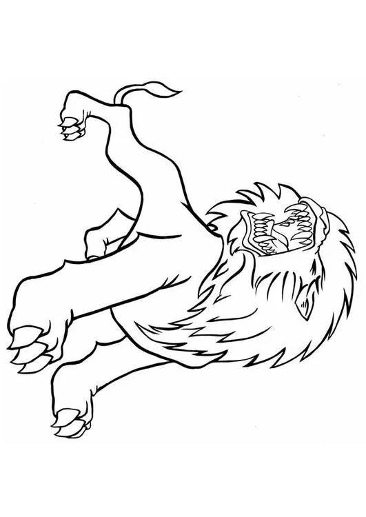 Coloring Page Roaring Lion Img 8837