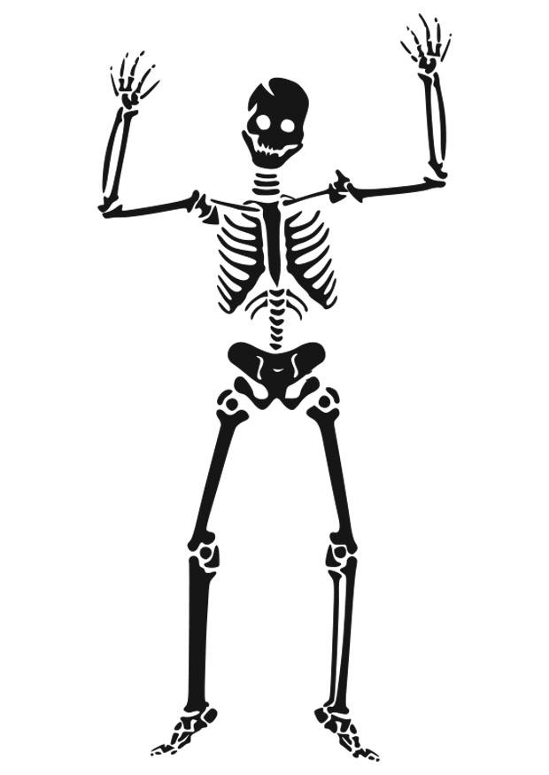 Coloring Page Skeleton Free Printable Coloring Pages