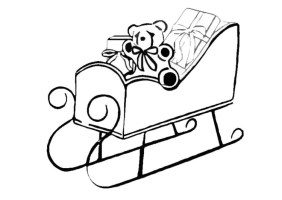 Coloring Page sleigh   free printable coloring pages   Img ...