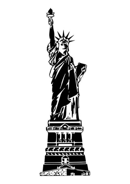 Coloring page statue of liberty USA