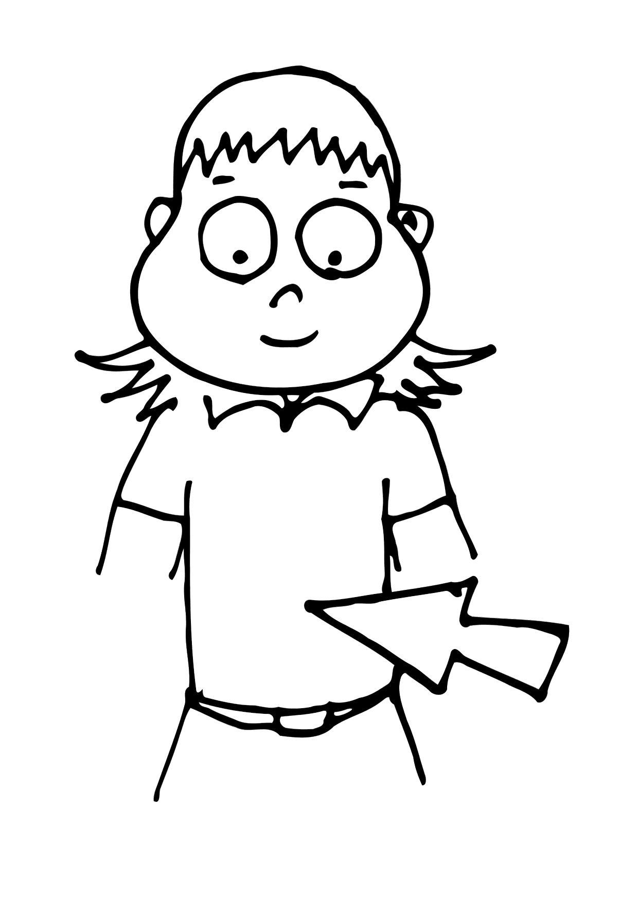 Coloring Page Stomach