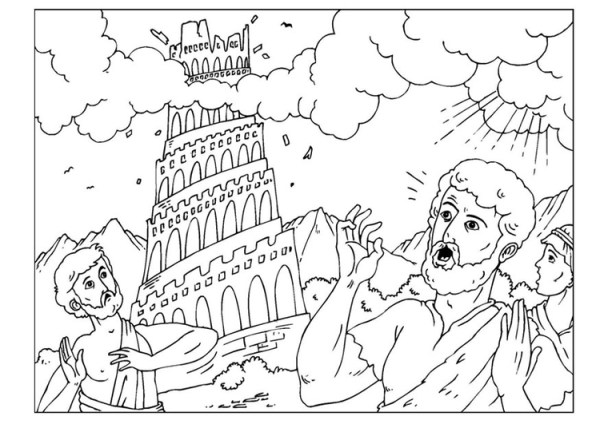 tower of babel coloring pages # 11