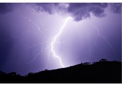 thunderstorm -lightning