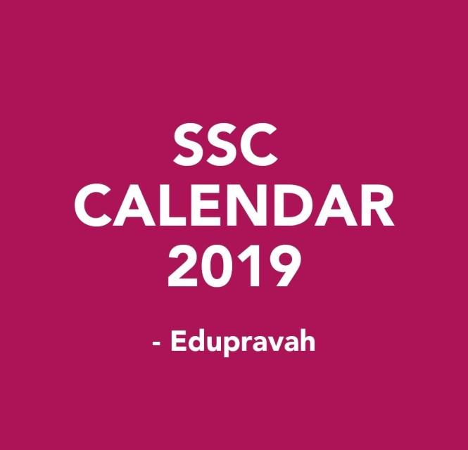 SSC CGL CALENDAR 2019