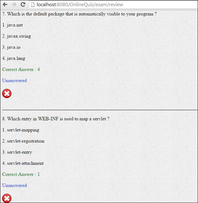 Online Quiz Application