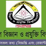 SUST Honors Admission Test Circular & Result 2016